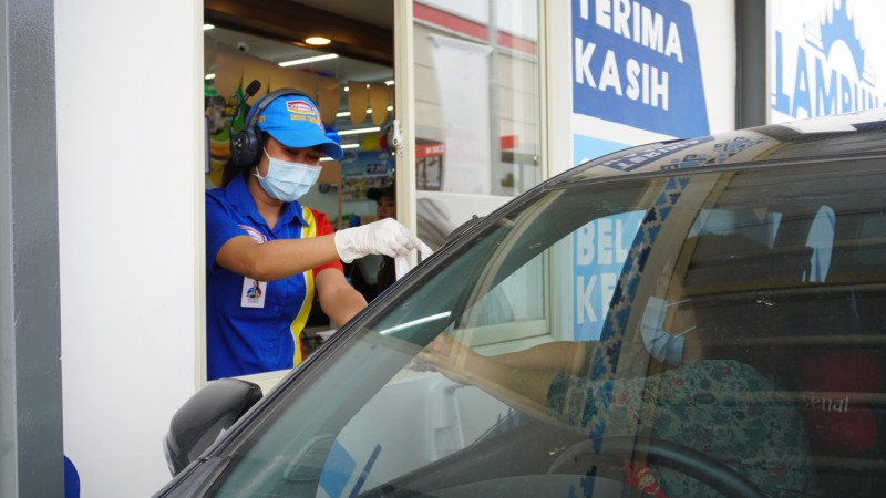 Indomaret Drive Thru Pagar Alam Promo Fried Chicken dan Yummy Pizza