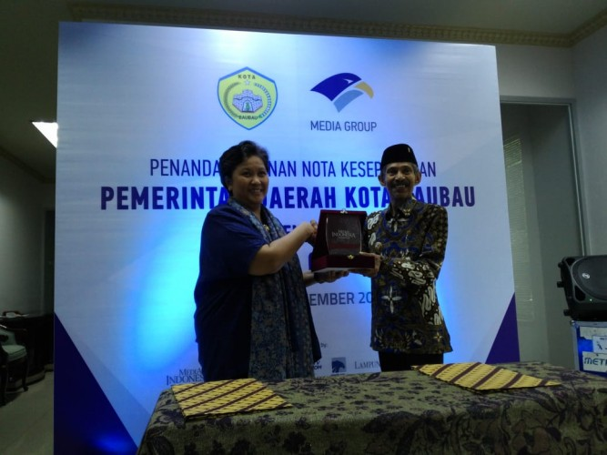 Pemkot Baubau-Media Group Tandatangani MoU