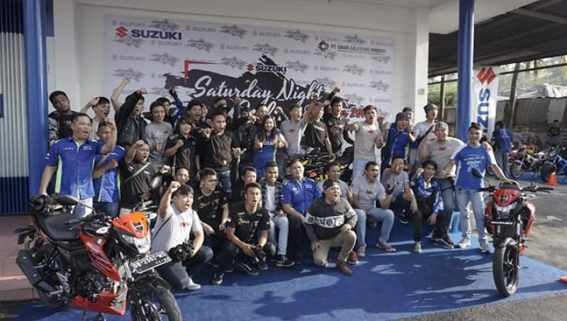 Ratusan Bikers Ramaikan Gelaran Pamungkas Suzuki Saturday Night Ride