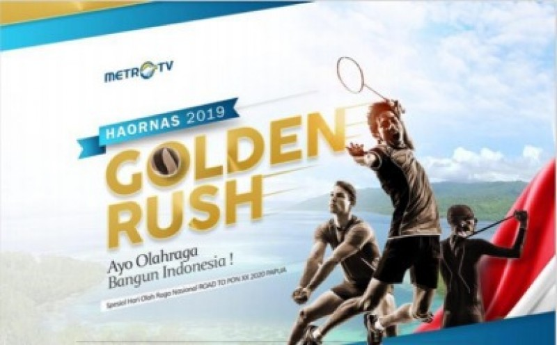 Sambut Haornas, Metro TV Gelar Program Golden Rush